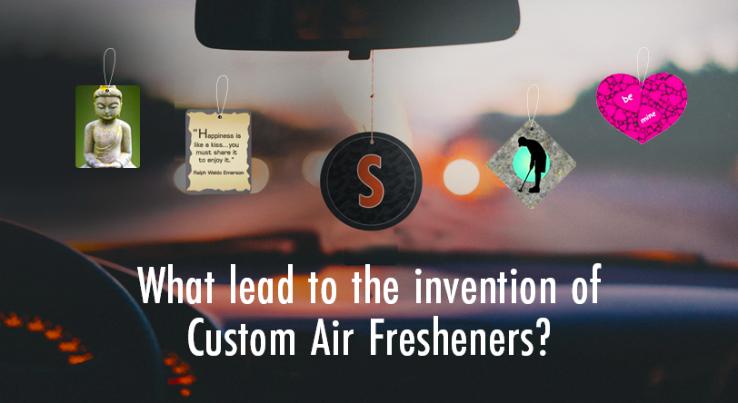 What lead to the invention of Custom Air Fresheners?