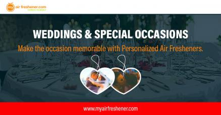 Make the Occasion Memorable with Personalized Air Fresheners