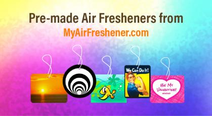 Pre-made Air Fresheners from MyAirFreshener.com
