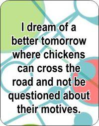 I Dream of Chickens Air Freshener | My Air Freshener | My Air Freshener