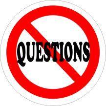 NO QUESTIONS Air Freshener | My Air Freshener