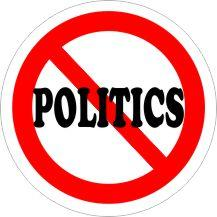 NO POLITICS Air Freshener | My Air Freshener