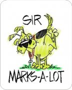 Sir Marks-A-Lot  Air Freshener