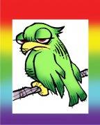 Pride Bird Air Freshener