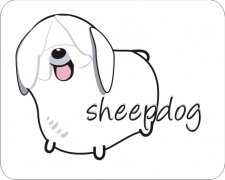 Designer Air Fresheners   My Air Freshener - Sheepdog   My Air Freshener
