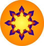 Throwing Stars Abstract Car Air Freshener | My Air Freshener