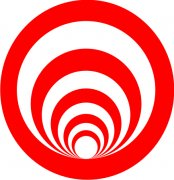 Red and White Spiral Abstract Air Freshener