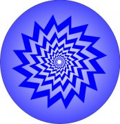 Blue Vortex Abstract Air Freshener