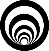 Black and White Spiral Abstract Air Freshener