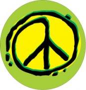 Green Peace Sign Car Air Freshener | My Air Freshener