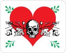Heart & Skull Car Air Freshener - My Air Freshener