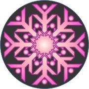 Fabulous in Pink Snowflake Car Air Freshener | My Air Freshener
