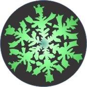 Emerald Snowflake Car Air Freshener | My Air Freshener