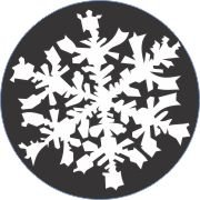 White Night Snowflake Car Air Freshener | My Air Freshener