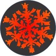 Red-Orange Snowflake Air Freshener
