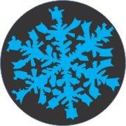 Blue Topaz Snowflake Car Air Freshener - My Air Freshener