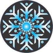 Blue Ice Snowflake Air Freshener