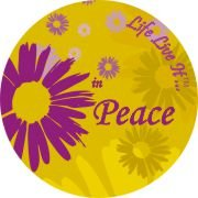 Life Live It - In Peace  on a Car Air Freshener - My Air Freshener